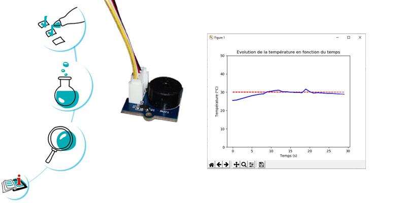Production d'un signal sonore : alarme température
